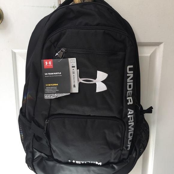 bfc16aaeef Under Armour UA Team Hustle Black Backpack Unisex